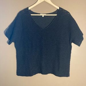 Eileen Fisher 100% organic cotton cropped v neck